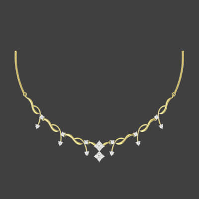 simple white gold necklace designs