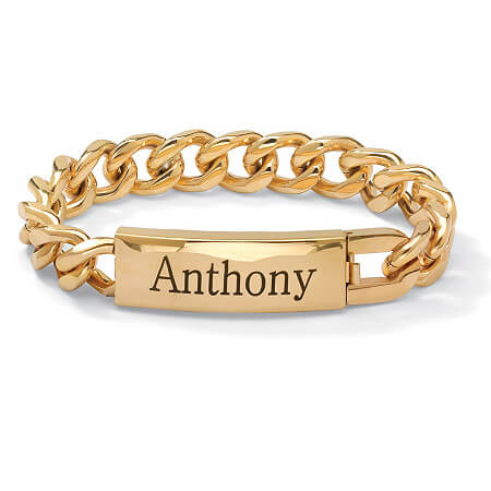 Customized name bracelet for men