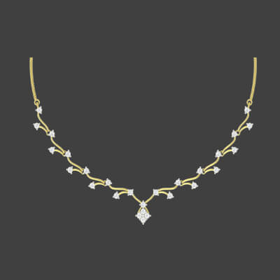 simple gold necklace designs for bride