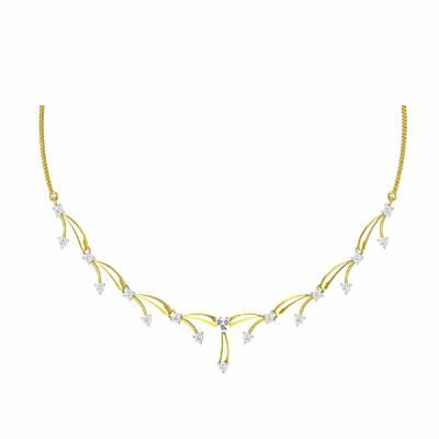 simple diamond necklace designs with price