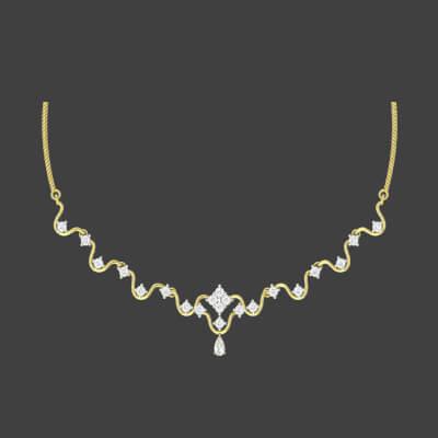bridal designer polki necklace designs