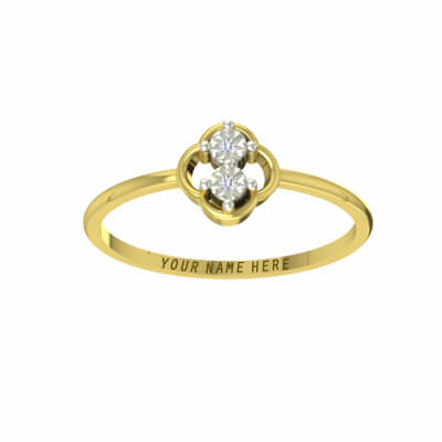 gold engagement rings for couple with names