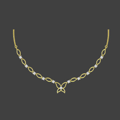 pure gold necklace set with price
