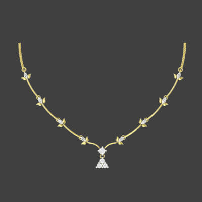 Simple Diamond Necklace Designs For Wedding
