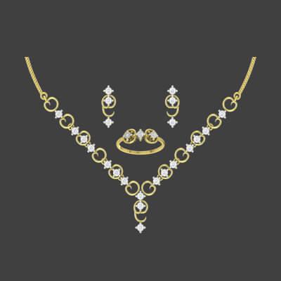 simple diamond necklace with price tag