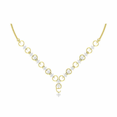 diamond necklace white gold