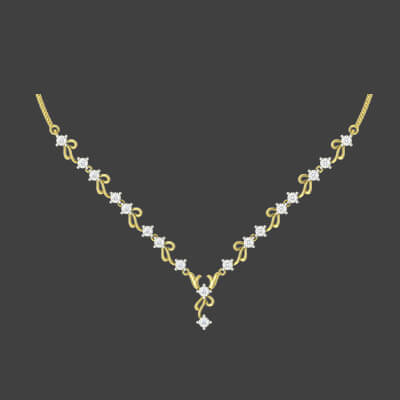 gold necklace designs new models
