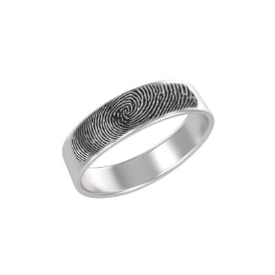 custom fingerprint silver rings online india