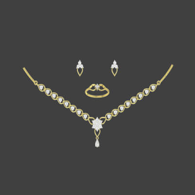 simple bridal gold necklace designs catalogue