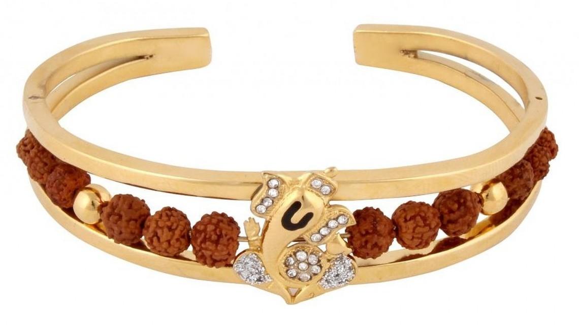 Gold and diamond bracelets for men