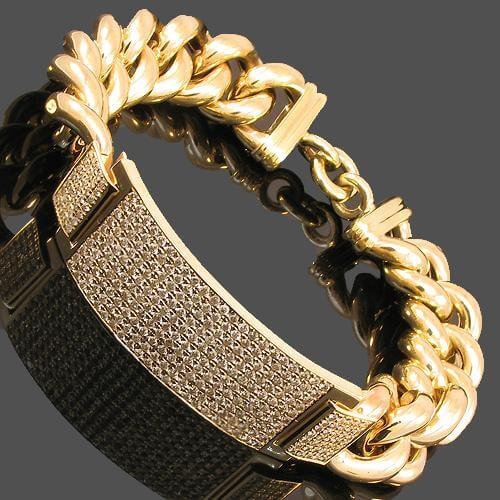 Gold braclets with diamond for men