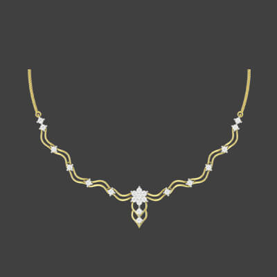 design of diamond necklace set