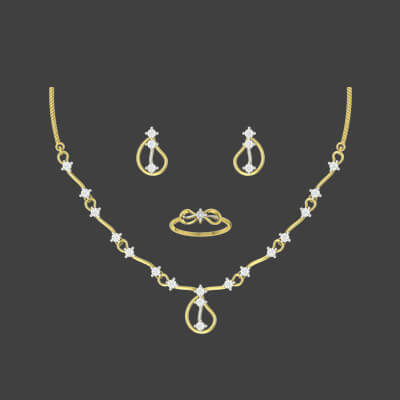 new necklace designs in gold with price