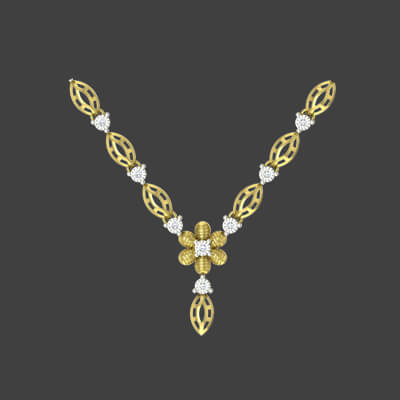 simple wedding gold necklace designs