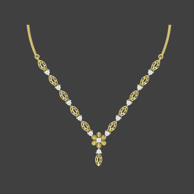 latest simple gold necklace designs 2015