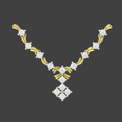 light weight diamond necklace