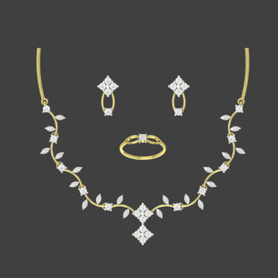 diamond necklace sets indian