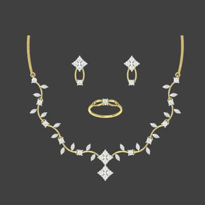 diamond necklace sets indian