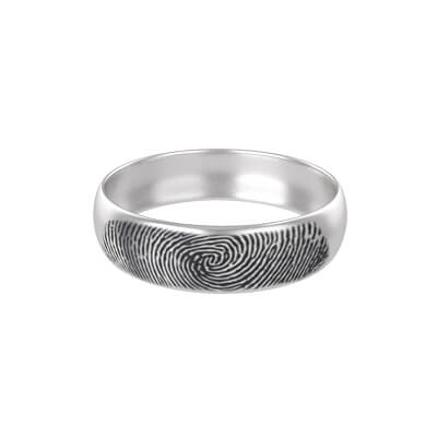 silver band ring for women