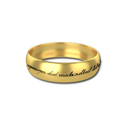 lord of the rings ring inscription on sterling silver wedding bands