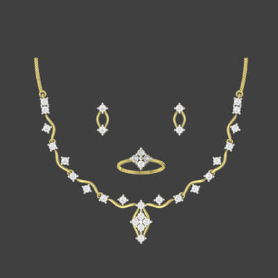 indian gold simple necklace