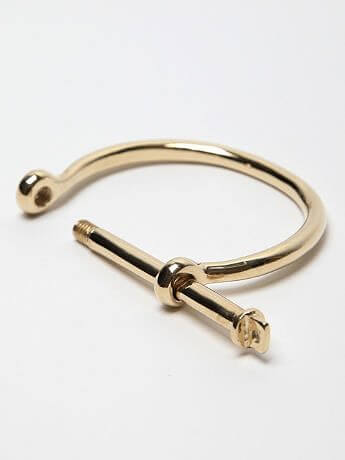 Screw gold bracelet for men online