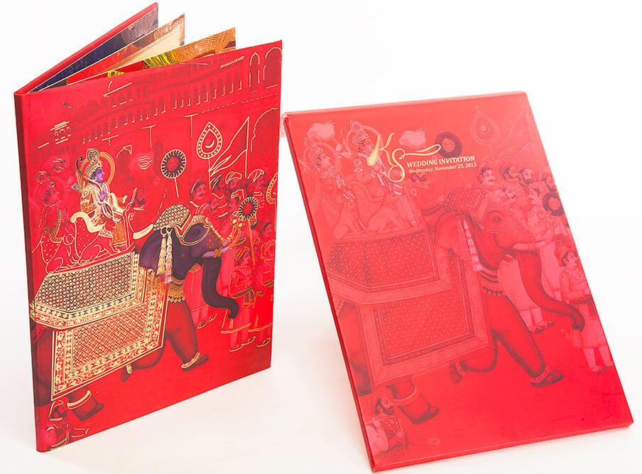 Seven promises wedding invitation with elephant