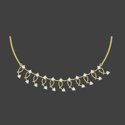 gold diamond necklace designs with price