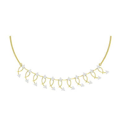 simple gold necklace images