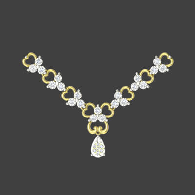 simple diamond necklace with price