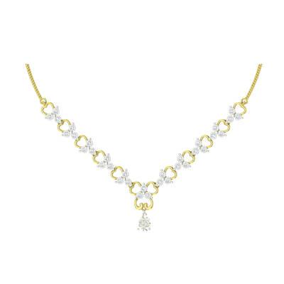 diamond necklace simple designs