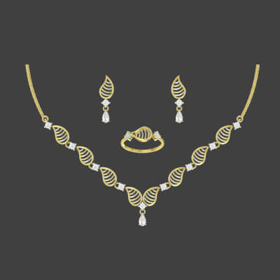 The Queen Diamond Necklace Set