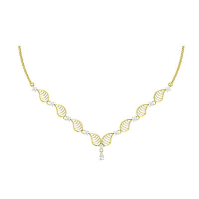 simple gold necklace for women wedding
