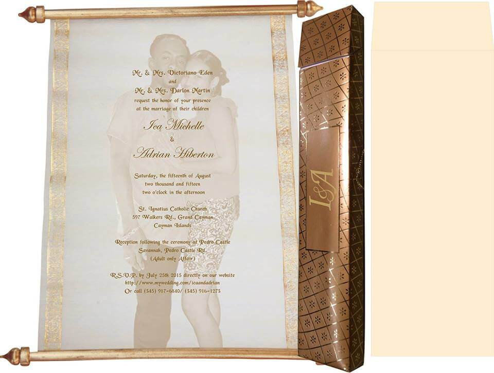 Universal wedding cards