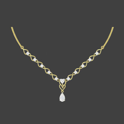 simple gold necklace sets