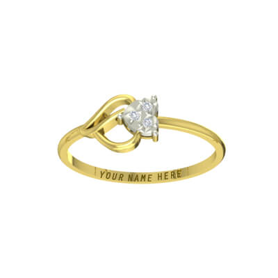 foe ever love ring with name engraved