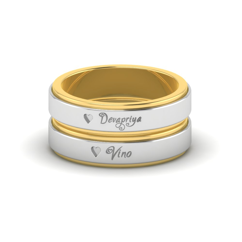 Gold And Platinum Fusion Wedding Ring