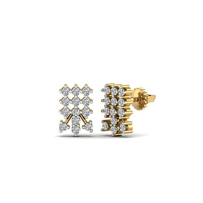 girl gold earrings plated ebay s image loading girls screwback heart itm baby is pave children