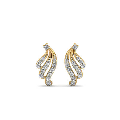 earrings teardrop diamond white triple earings home jewellery gold