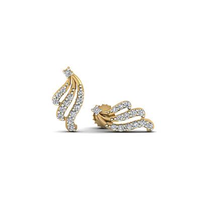 diamond hoop earrings white gold