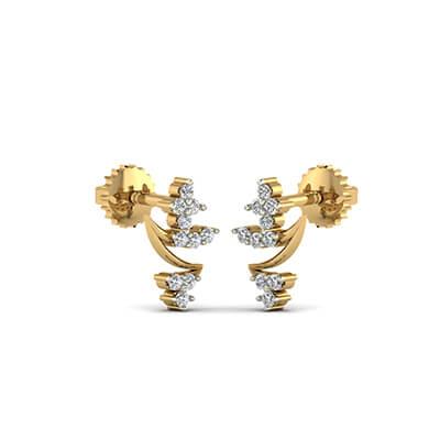 diamond gold earrings designs