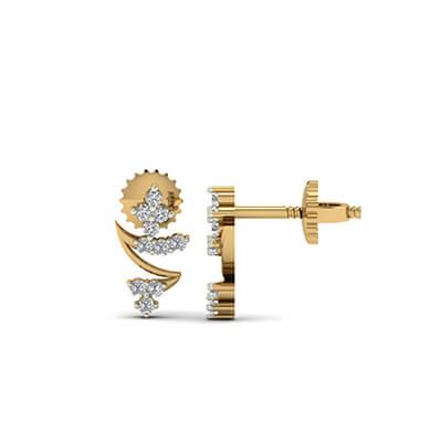 indian gold earrings designs hoops