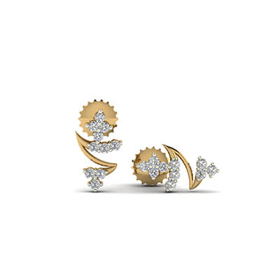 22k gold earrings designs with price