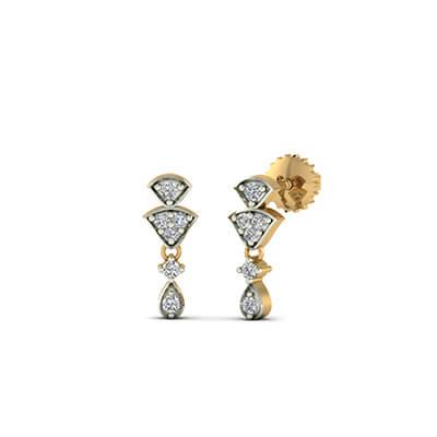 diamond drop earrings white gold