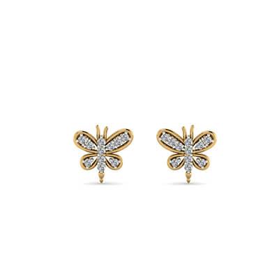 real gold earrings for kids