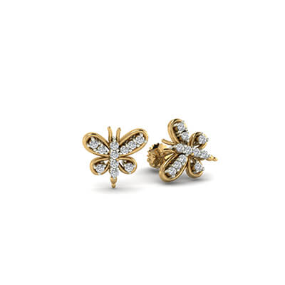 small gold earrings for baby