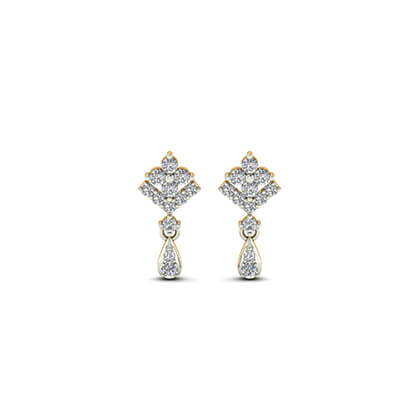 white gold earrings studs
