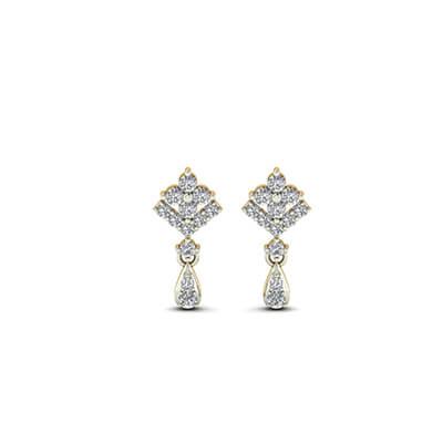 white gold earrings studs