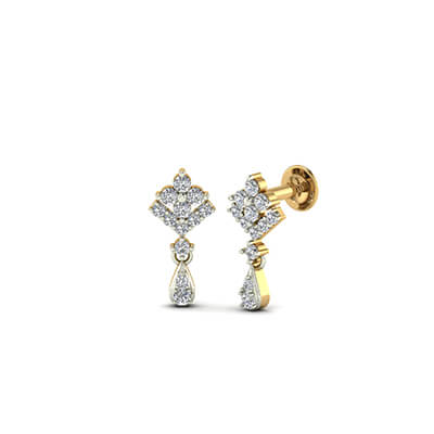 womens white gold earrings