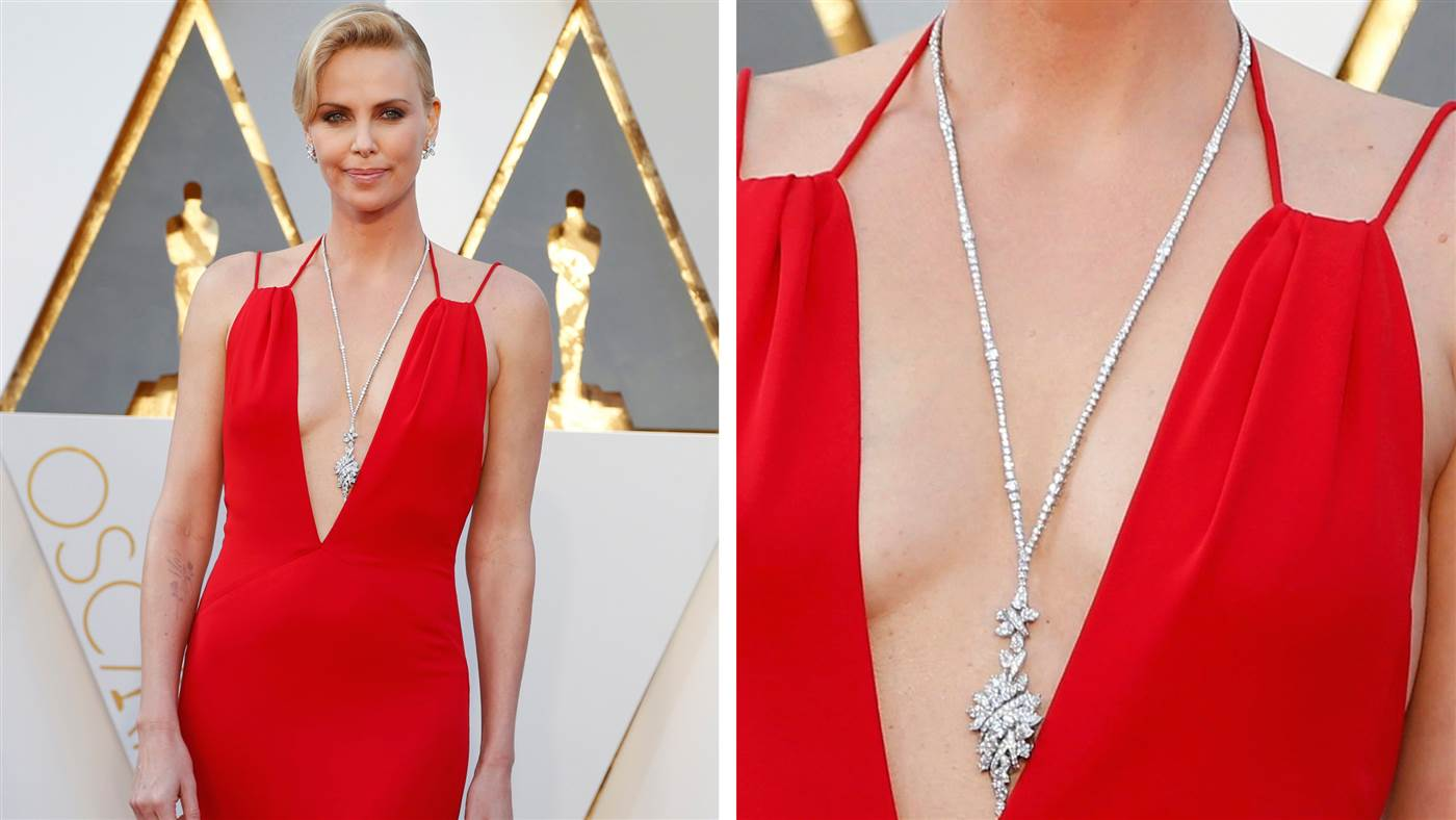 Charlize Theron's Necklace- Oscar2016